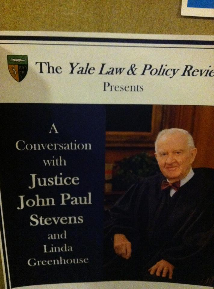 Went to hear former US Supreme Court