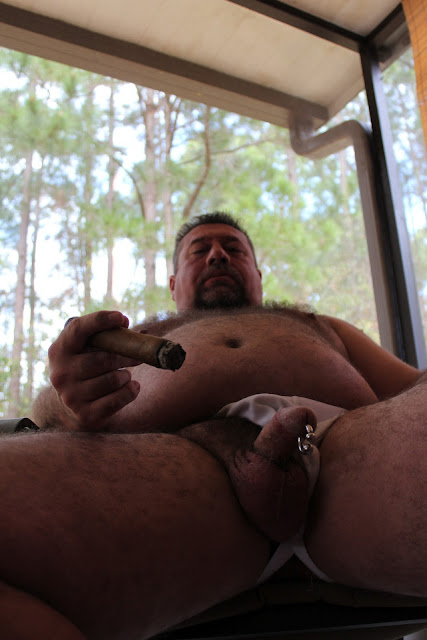 Beargarplay008 Hot Hairy Bear Plays with his Cock
