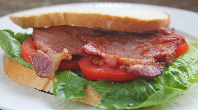 BLT. Bacon, lettuce and tomato sandwich