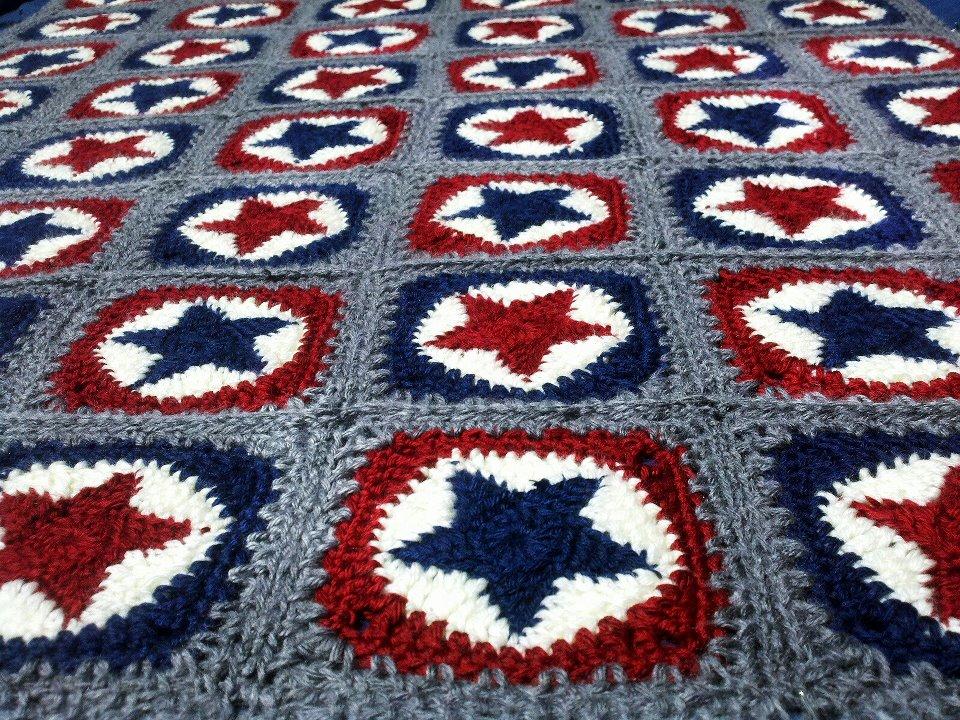 Free Crochet Pattern Granny Star : Sweet Mamu: All Star Crochet Blanket