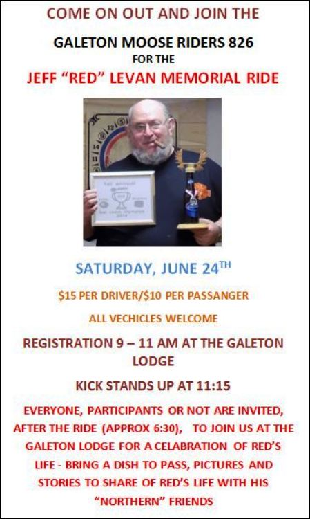 6-24 Galeton Moose Memorial Ride