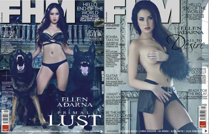 Women on Earth Ellen Adarna Covers FHM Philippines January 2012 Issue