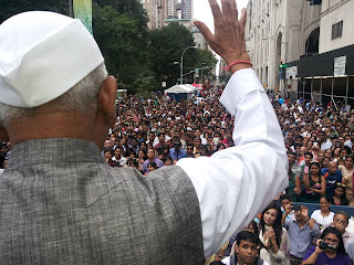 Anna Hazare at New York Gallery