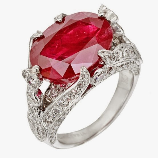 Burmese Ruby Diamond Ring