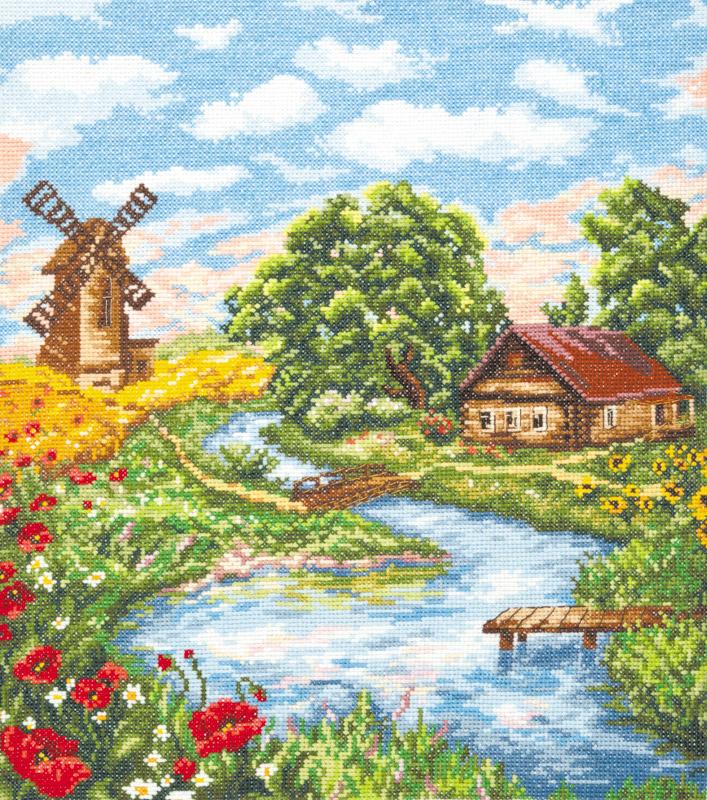 Каталог вышивок крестом пейзажи