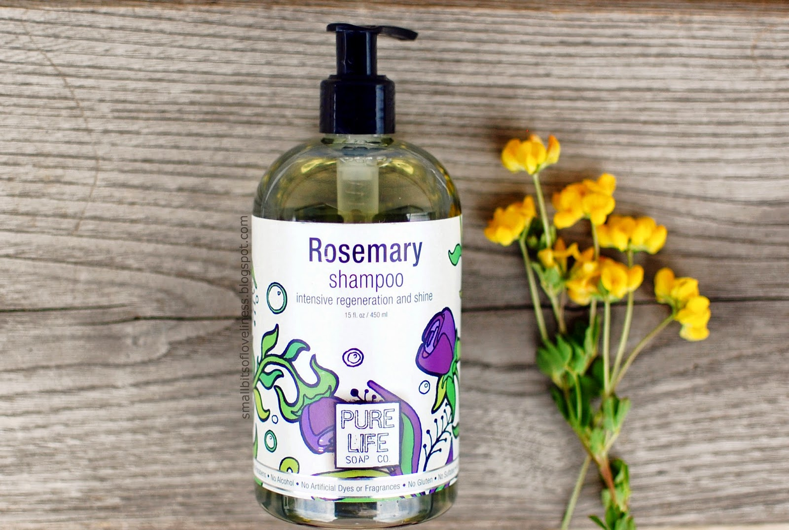 Pure Life Soap Rosemary Shampoo, Natural No Gluten, Sulfates, Cruelty Free