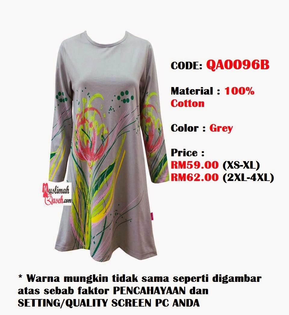 T-Shirt-Muslimah-Qaseh-QA0096B