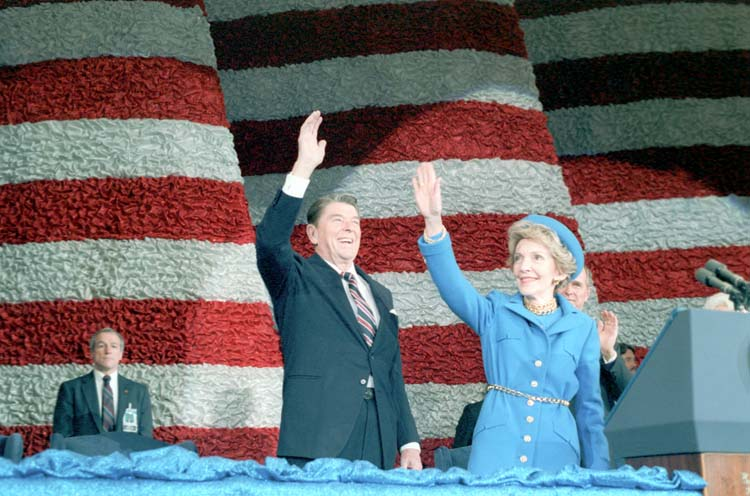 SAIC Robert DeProspero with the Reagans 1985
