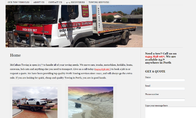 trusted towing company in Perth