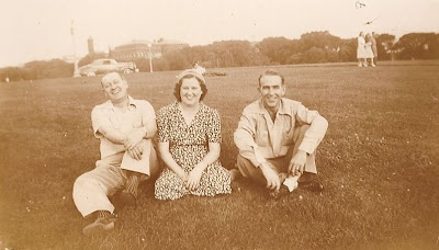 Fred and Julia Slade and friend 1940