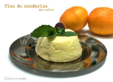 Flan de mandarina light