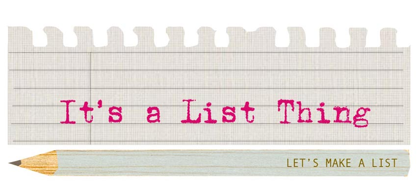 it's a list thing