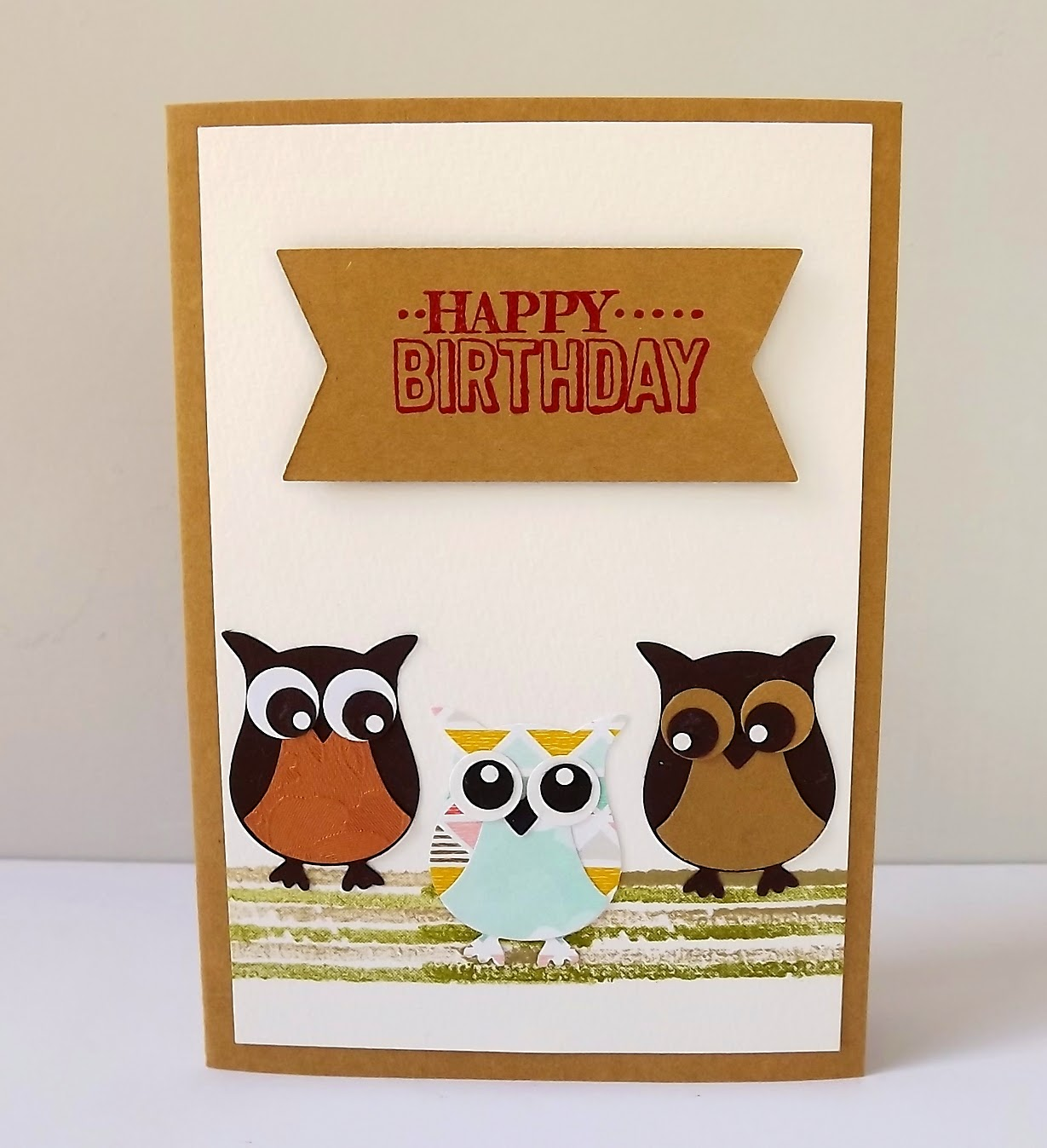 Stampin Up! owl punch card