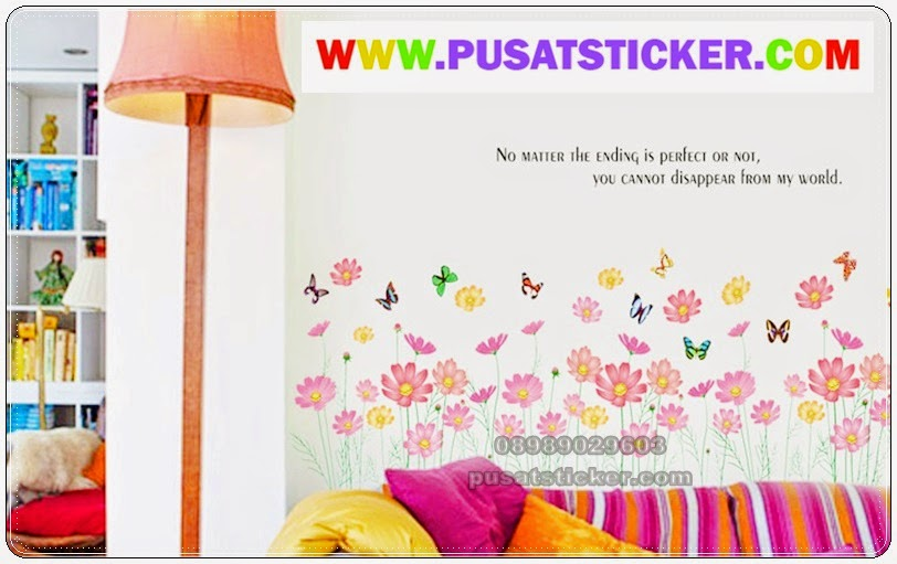 wall sticker pagar bunga - olivacollection