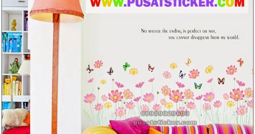 wall sticker pagar bunga - olivacollection