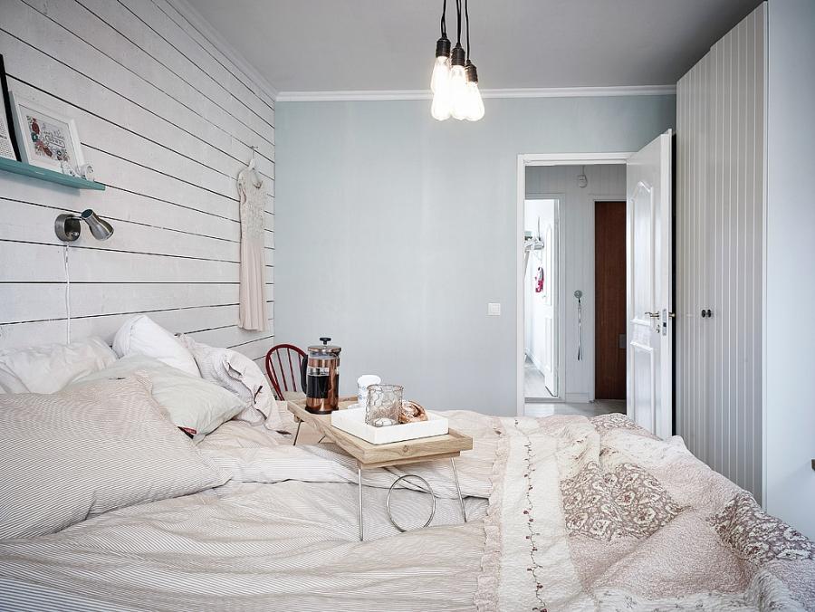 wystrój wnętrz, wnętrza, urządzanie mieszkania, dom, home decor, dekoracje, aranżacje, scandinavian style, vintage, scandi, kuchnia, kitchen, brick wall, ściana z cegły, białe wnętrza, sypialnia