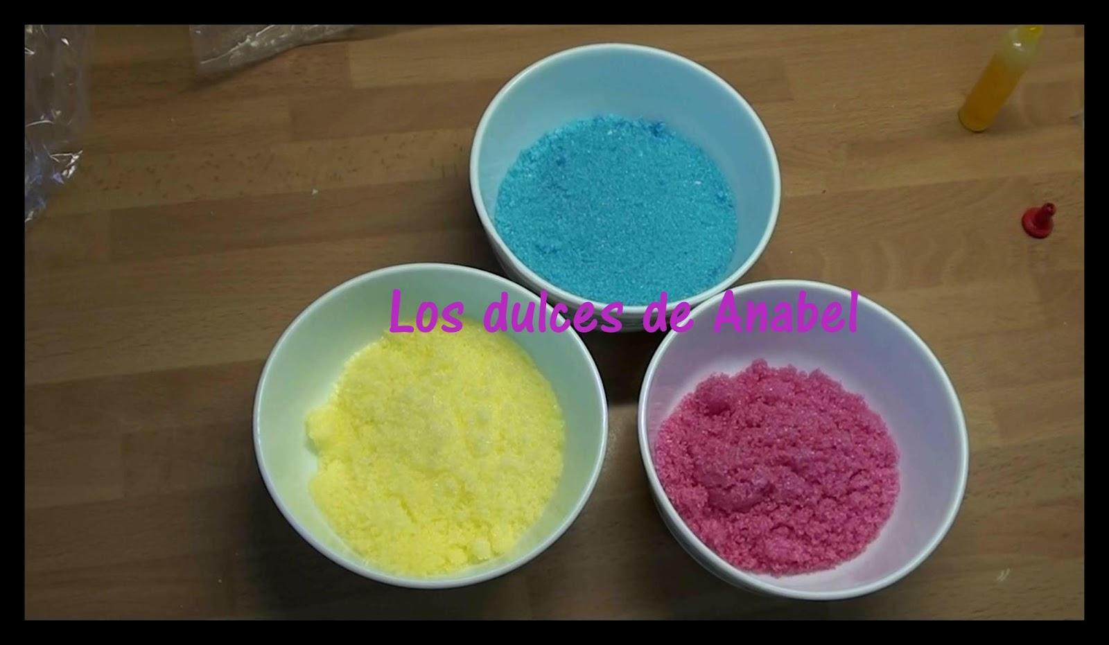 Como hacer azucar de colores los dulces de anabel como - Como hacer colores ...