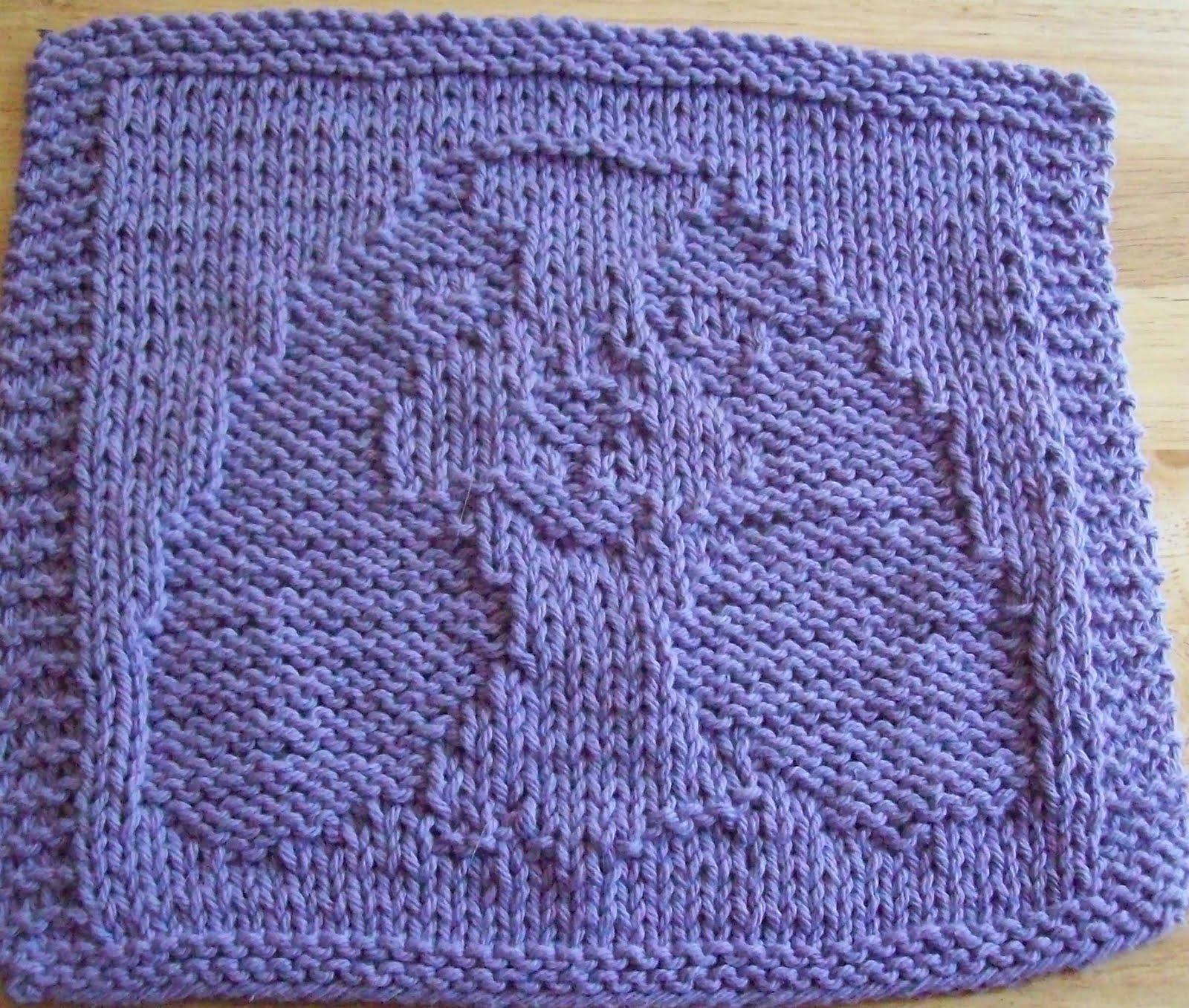 Dishcloth Knit Patterns : DigKnitty Designs: Spaniel Knit Dishcloth Pattern