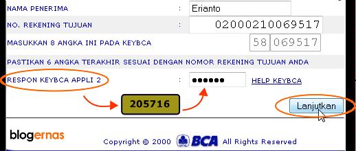 Cara Membuat Daftar Rekening Tujuan Transfer KlikBCA Online