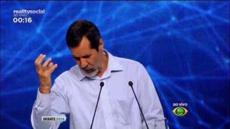 Eduardo Jorge, Candidato a Presidência da Republica do Brasil, satiriza no Debate da Band e vira piada no Twitter