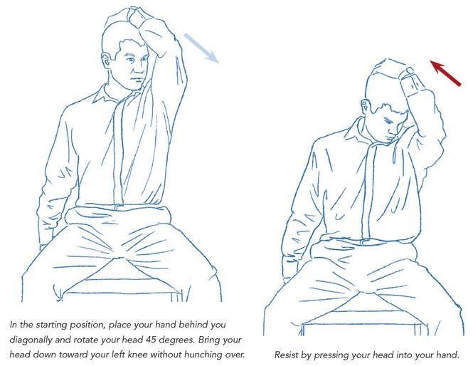 Three ways to fix your sitting posture todayUpper Trapezius Stretch