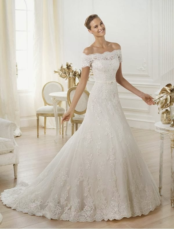 My-Fancy-Bride Blog: Attractive off-the-shoulder Bridal Gowns