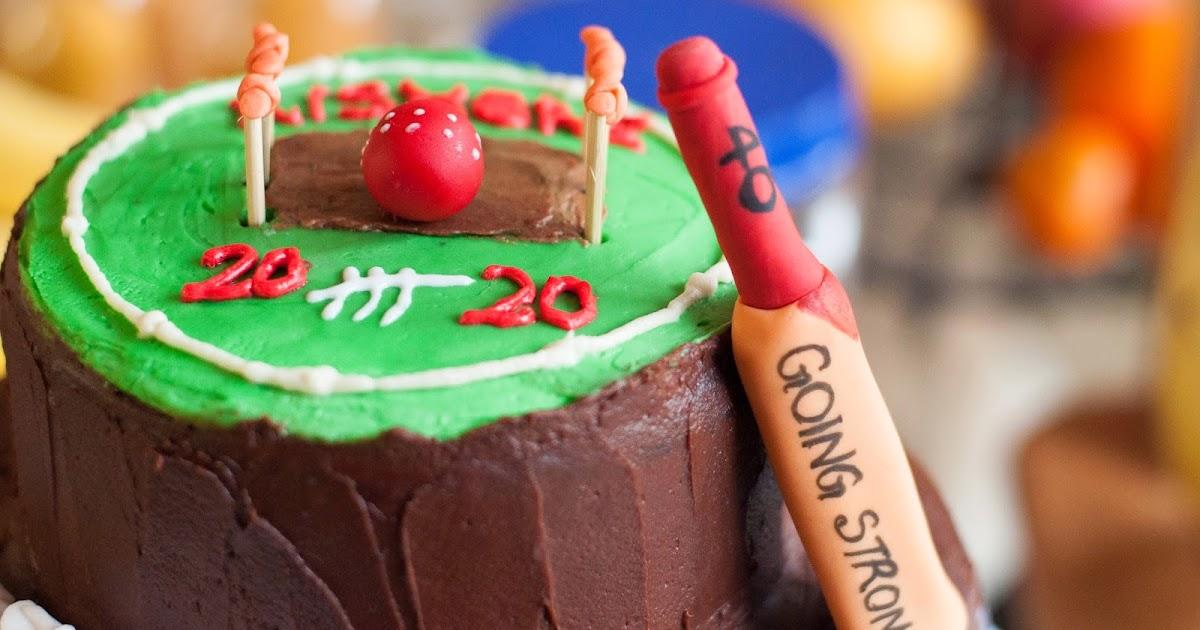 Edible Cricket Cake Decorations