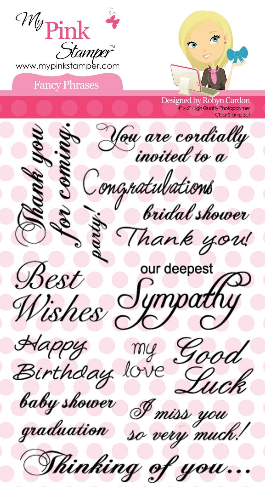 My pink stamper fancy phrases stamp set