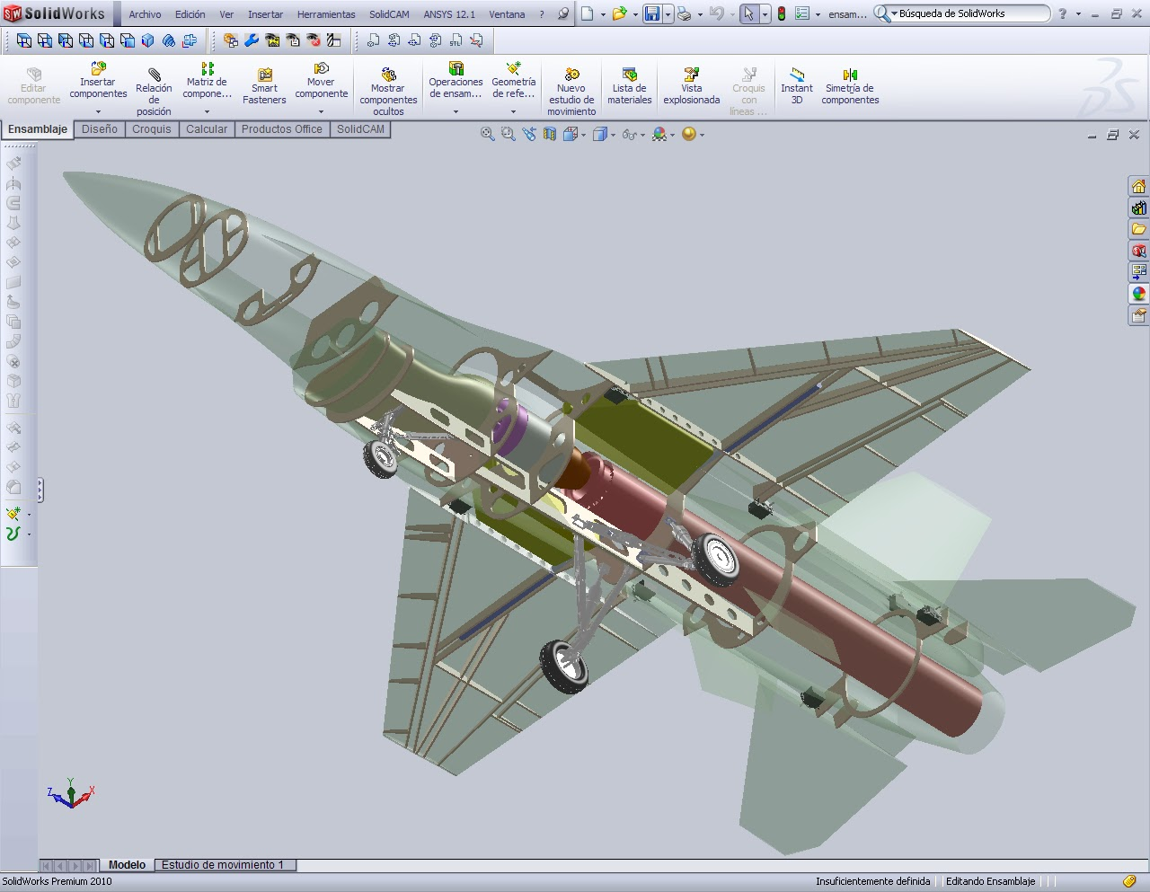 F 16 model scl 1 5th solidworks design for Design table not working solidworks