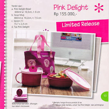PINK DELIGHT TUPPERWARE