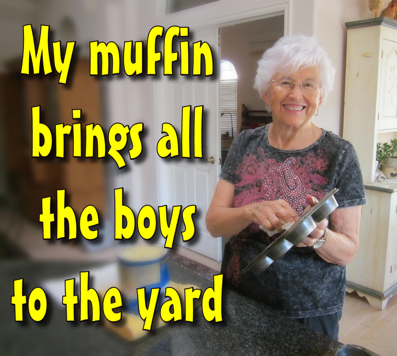Betsy Stoker cleaning her muffin tray