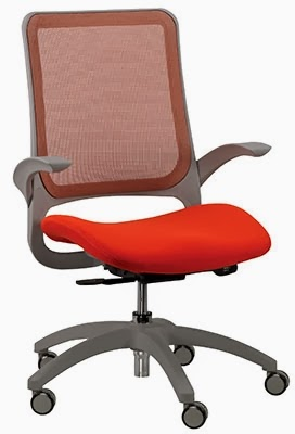 Hawk MF22 Orange Office Chair by Eurotech