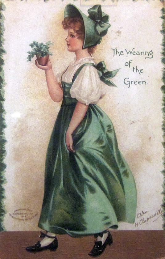 Ellen Clapsaddle, Wearing of the Green, St. Patricks Day postcard