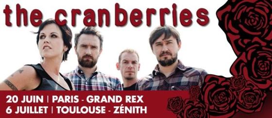 The Cranberries en concert à Paris et à Toulouse en 2012