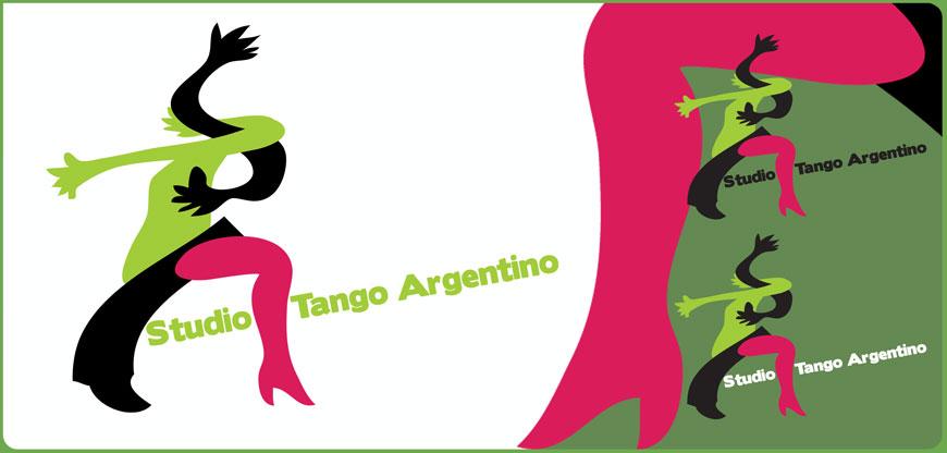 logo logotype Studio Tango Argentino magrite découpage
