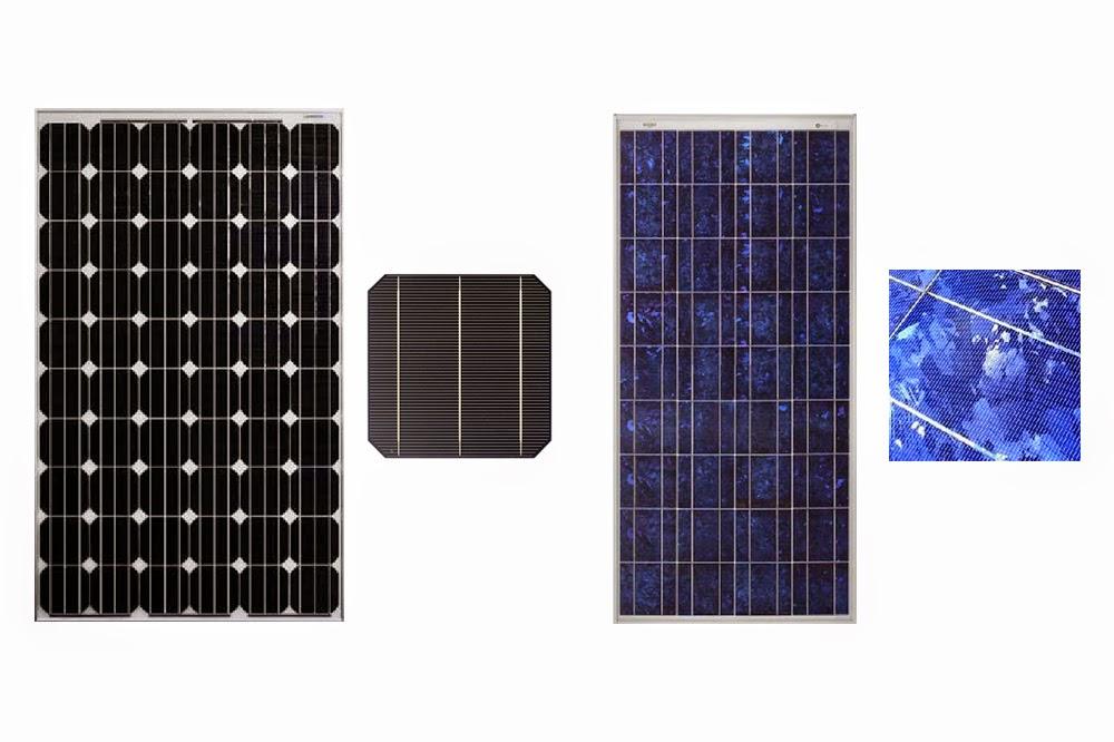 Jard n solar monocristalino o policristalino - Tipos de paneles solares ...