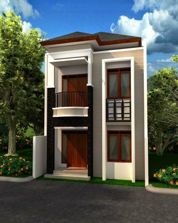 Contoh Gambar Desain Rumah Mungil Modern 2 Lantai