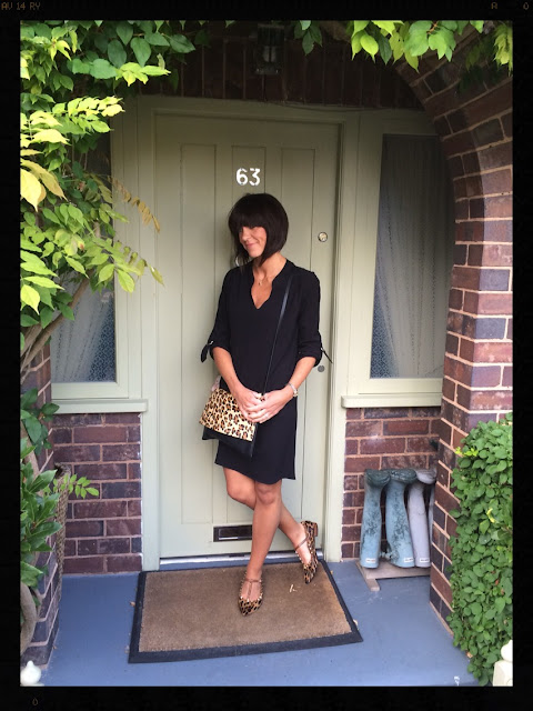 My Midlife Fashion, Leopard Print, Animal Print, Zara, Wallis Tunic Shift Dress