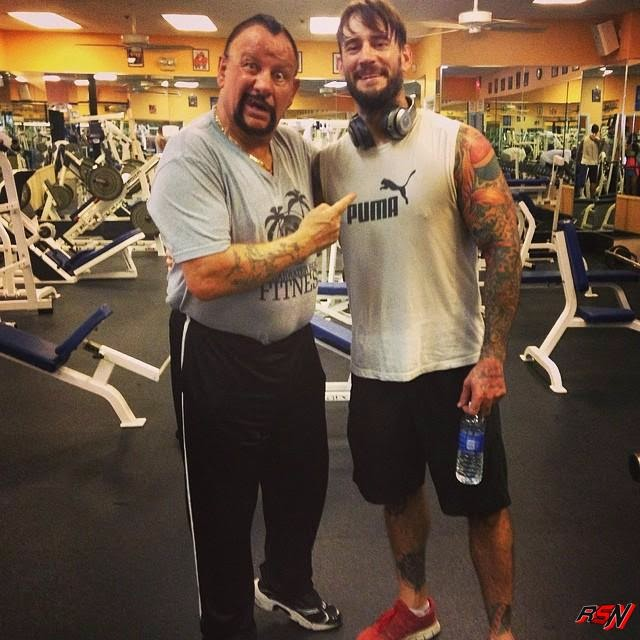 CM Punk Was With Bushwacker Luke in Clearwater Beach yesterday.