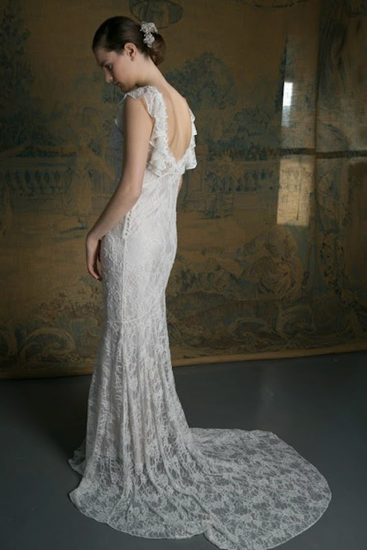 1930s vintage lace wedding dress by Heavenly Vintage Brides