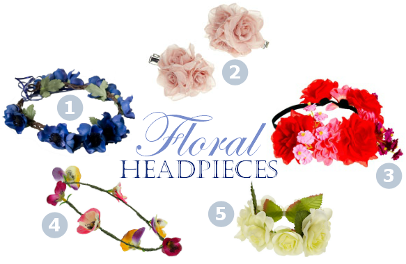 Floral Headpieces online high street shopping