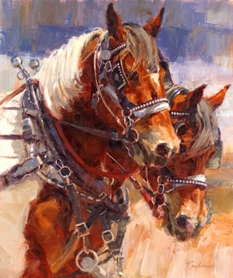 caballos-decorativos-al-oleo