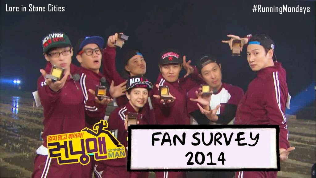 Running Man Fan Survey 2014