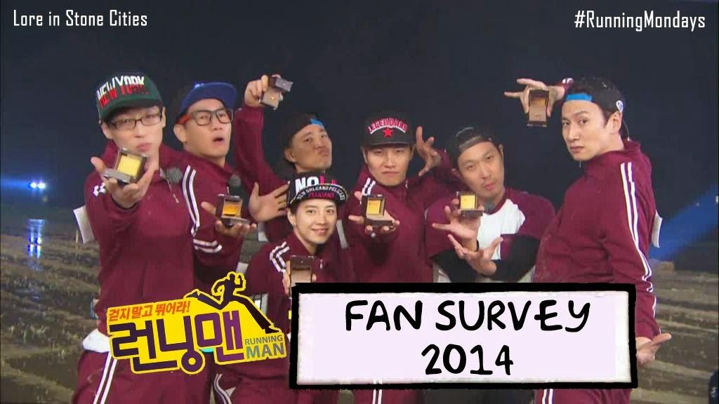 Running Man Fan Survey 2014