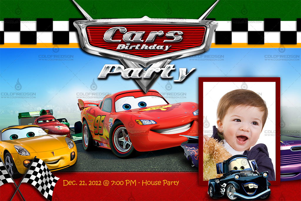 cars 2 birthday psd template « coldfiredsgn, Birthday invitations