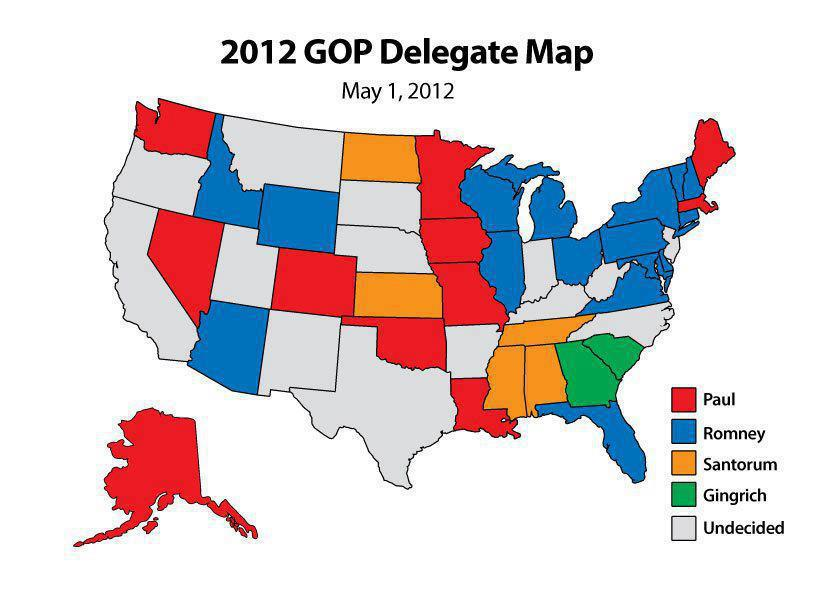 FileUS States By The Delegates Democratic Party Svg - Us delegates map