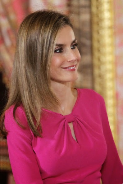Queen Letizia of Spain at the Royal Palace on 01.10.2014 in Madrid, Spain