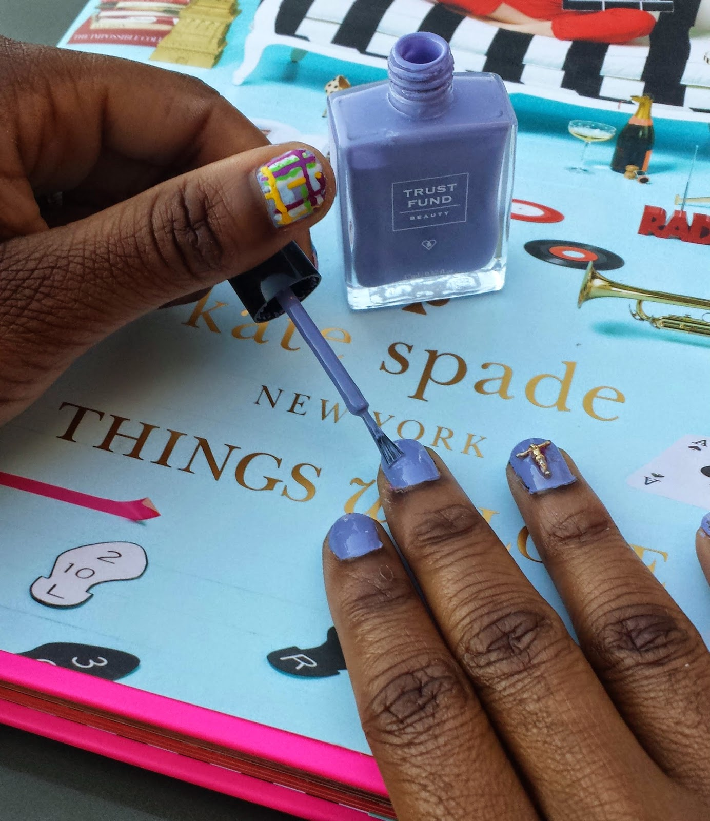 nail art, trust fund beauty, kate spade new york, things we love, ksny, nailart, elegantly wasted