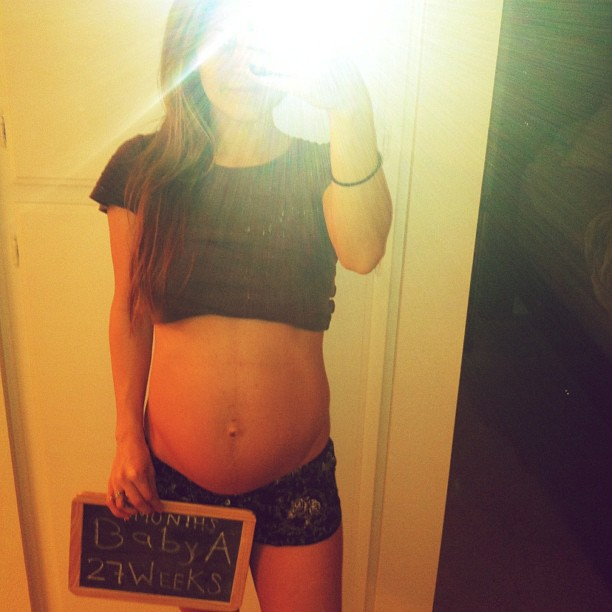 TESSA RAYANNE: 25, 26, and 27 Weeks Pregnant