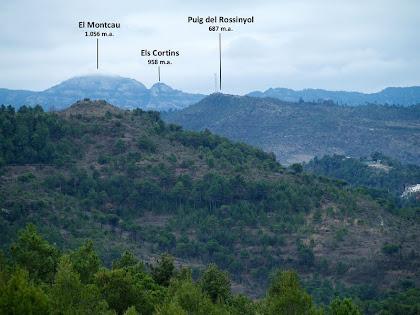 Panoràmica del Montcau des del Camí de Monistrol a Vilaterçana